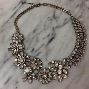 Bauble Bar Floral Crystal Statement Necklace